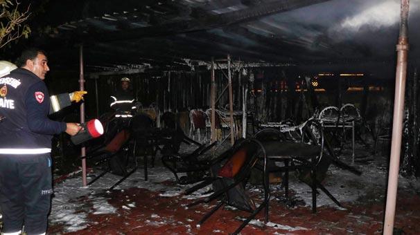 Piknik alanında çıkan yangın maddi hasara neden oldu