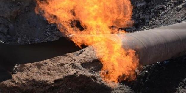 PKK, doğalgaz hattını havaya uçurdu