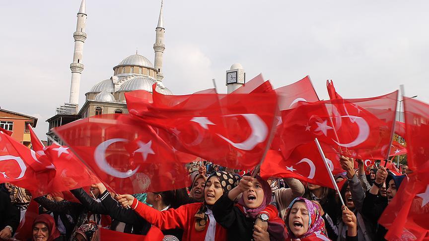 PKK terörünü lanetleme mitingi