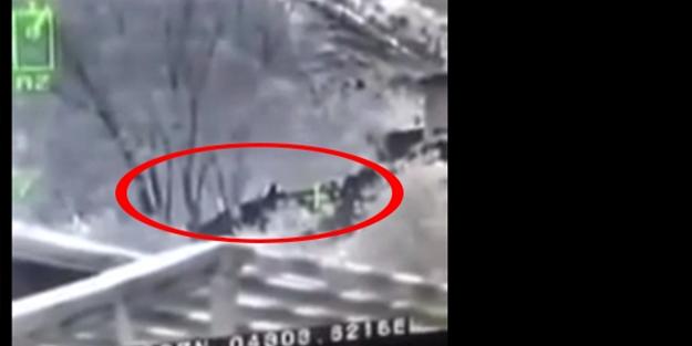 PKK'lı teröristler böyle vuruldu! - VİDEO