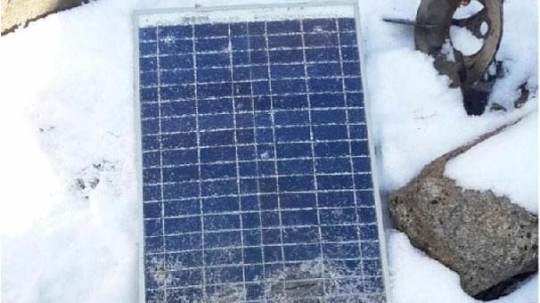 PKK'lılara ait güneş paneli ele geçirildi!