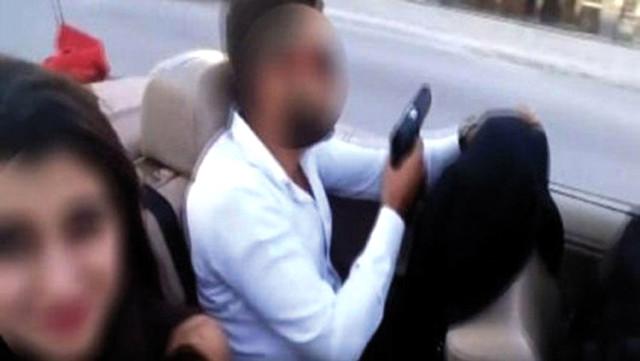 Polis maganda damadı enseledi