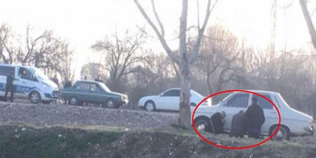 Polisi gören yaşlı amcalar böyle görüntülendi