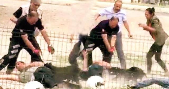 Polislerin üzerine pitbull salmıştı! Bakın kimin oğlu çıktı