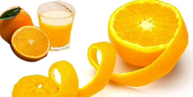Portakal kabuğu faydaları