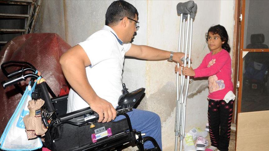 Protez bacağına kavuşacağı günü sabırsızlıkla bekliyor
