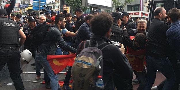 Provokasyon başladı! Taksim'e çıkmak isteyen gruba müdahale