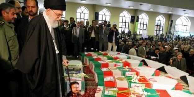 Pusu'da öldürülen İran askerlerinin cenazesi kalktı