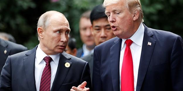 Putin'le görüşen Trump gözdağı verdi!