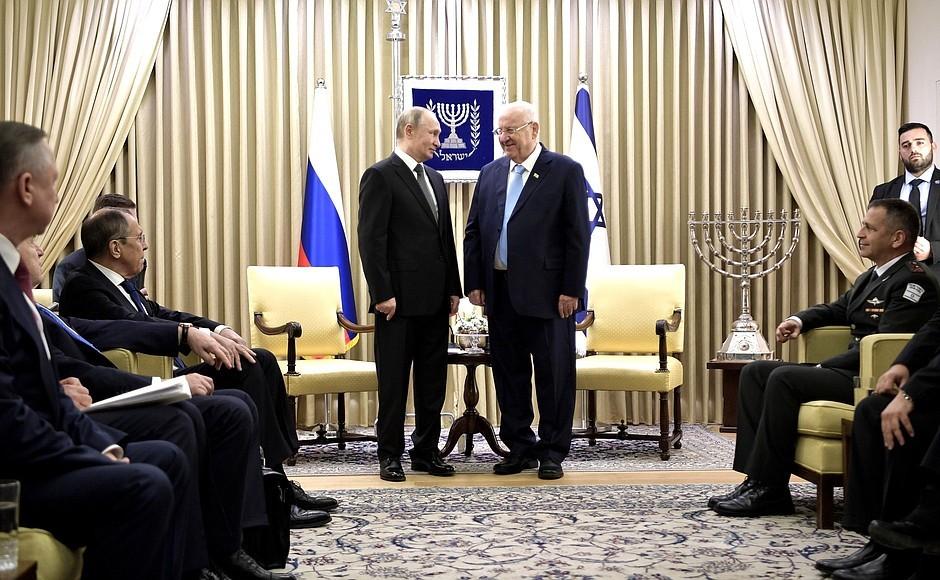 Putin, İsrail'de Başbakan Netanyahu ve Cumhurbaşkanı Rivlin ile görüştü