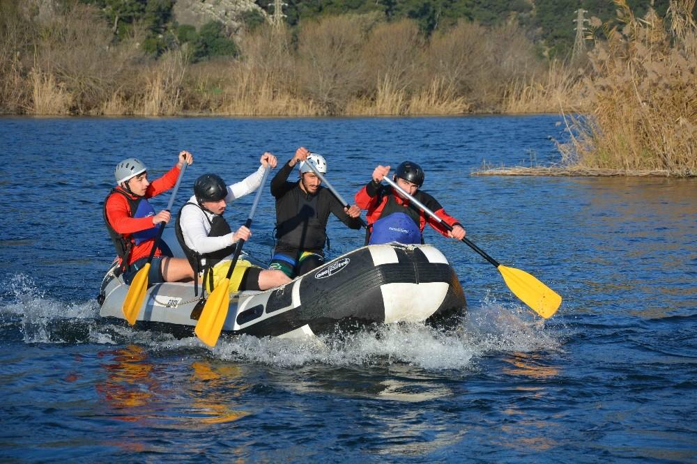 Rafting Milli Takımı aday kadrosu Dalyan'da kampa girdi