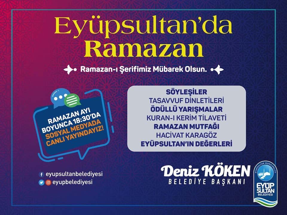 Ramazan coşkusu Eyüpsultan'da yaşatılacak