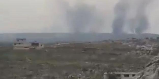 Rejim askerleri lastik yakarak SİHA'ları engellemeye çalışıyor