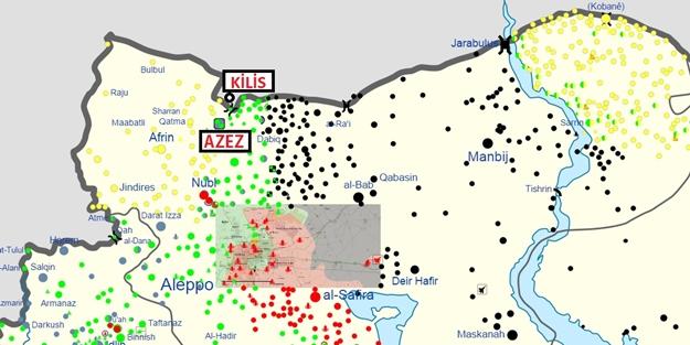Rejim ve İran çeteleri Azez'e yöneldi