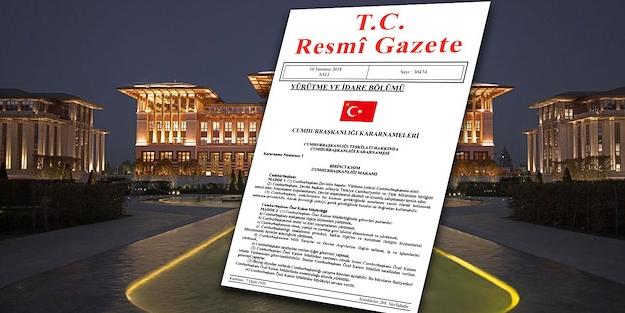 Resmi Gazete kararları Resmi Gazete bugün atama görevden alma kararları