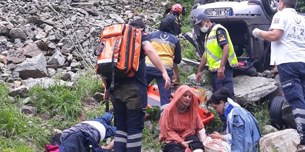 Rize'de facia kaza! 1 ölü 3 yaralı