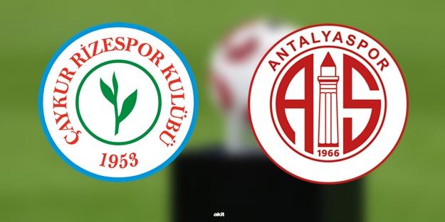 Rizespor Antalyaspor maçı ne zaman saat kaçta hangi kanalda?