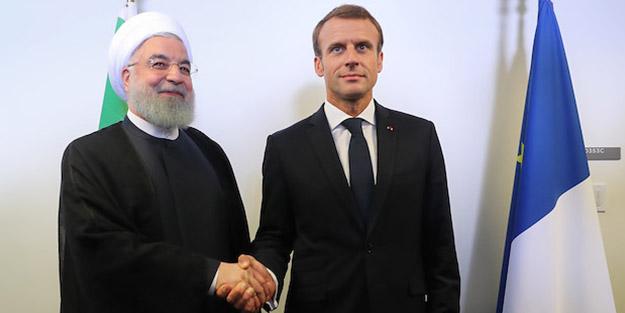 Ruhani ile Macron arasında kritik görüşme!
