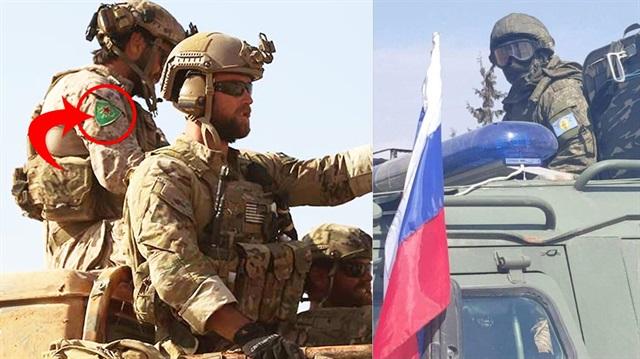 Rus askerleri de Amerika askerleri gibi PYD arması taktı