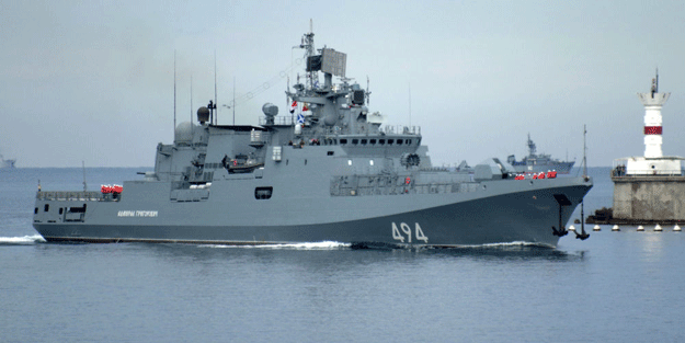 Rus donanmasına ait gemiler Akdeniz'de 'çatıştı'