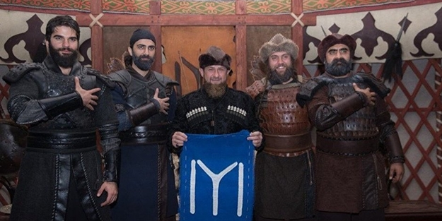 Rus kuklası Kadirov'dan 'Diriliş' tiyatrosu!
