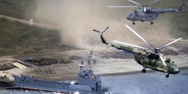 Rusya askeri hareketliliği böyle açıkladı! '20'den fazla savaş gemisi geldi'