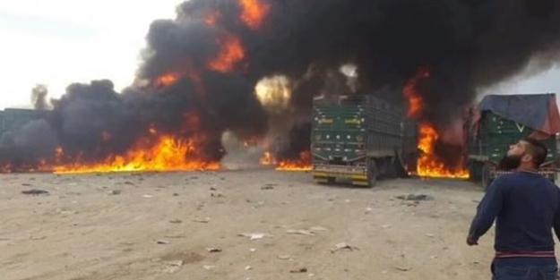 Rusya Suriye'de yardım TIR'larını vurdu!