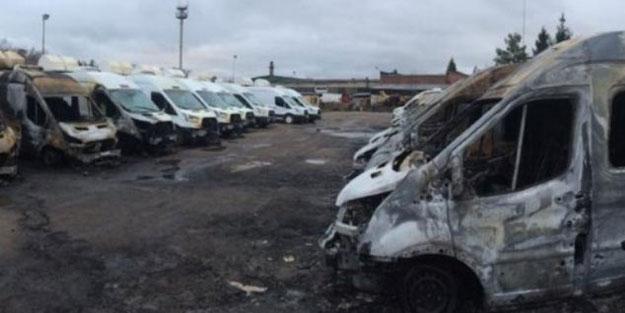 Rusya'da 13 minibüs aynı anda ateşe verildi