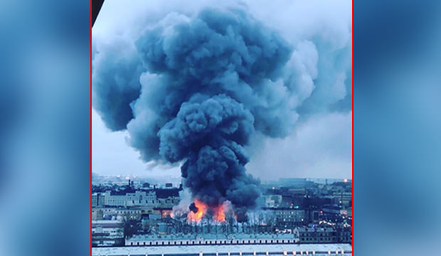 Rusya'da büyük çaplı yangın çıktı!