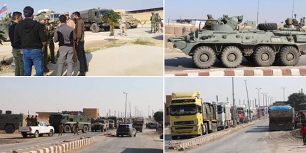 Rusya'dan skandal: Terör örgütü YPG'ye 40 tırlık askeri yardım!