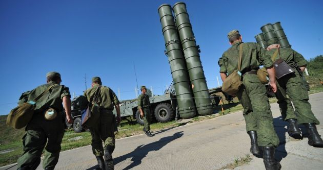 Moskova'da S-400 füze tatbikatı