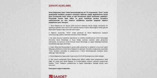 Saadet Partisi, Karamollaoğlu'nun iddiasını bir üst seviyeye taşıdı!