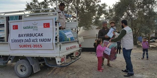 Sadakataşı Derneği'nden Türkmen Dağı'na yardım