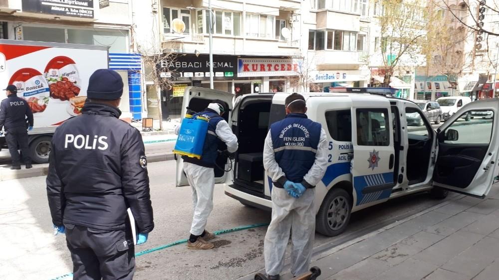 Sadece 2 korona virüs vakası bulunan Burdur'da ekipler 4'üncü dezenfekte turuna başladı