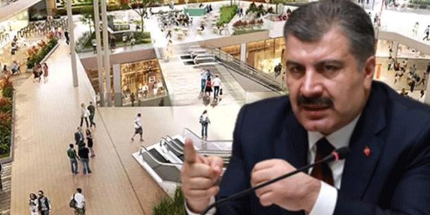 Sağlık Bakanı Fahrettin Koca'dan AVM'li koronavirüs paylaşımı: Riski görün