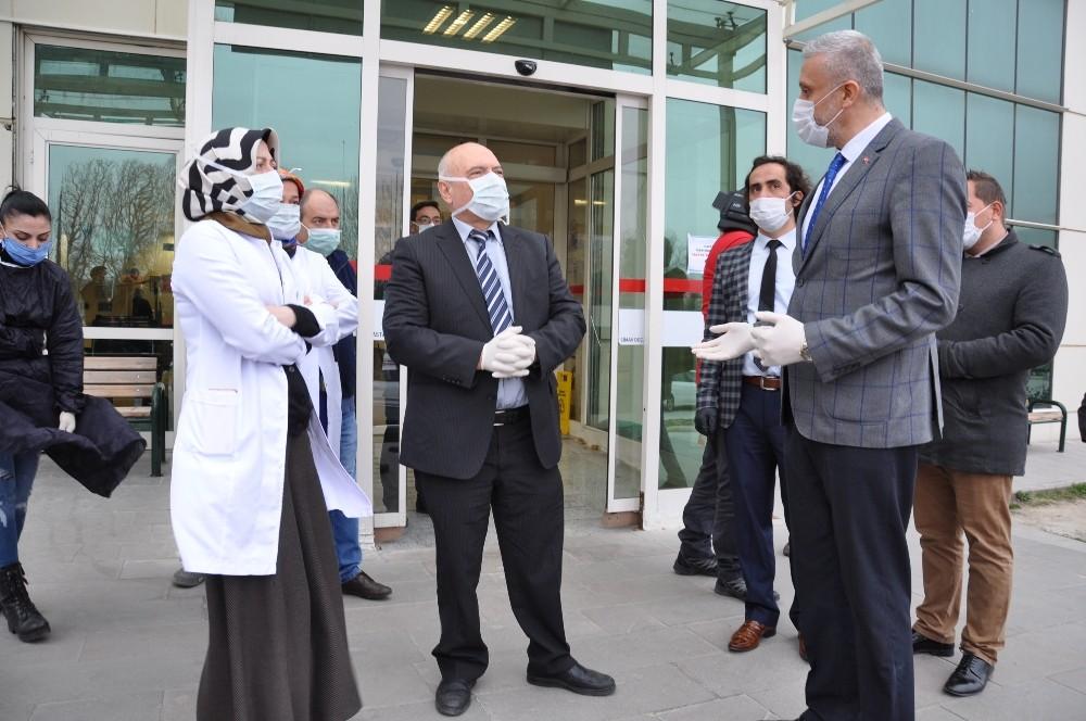 Sağlık çalışanlarına teşekkür ve destek ziyareti