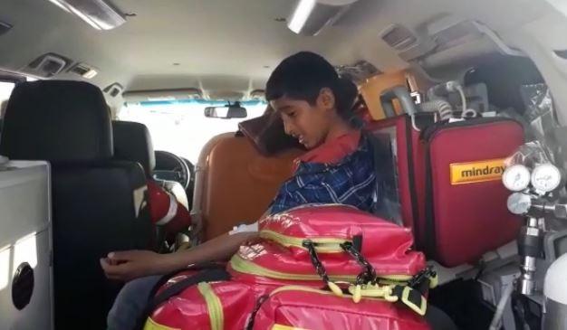 Sağlık ekipleri ve UMKE hasta çocuk için seferber oldu