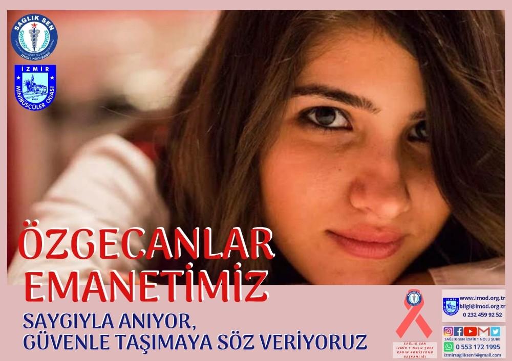 Sağlık-Sen İzmir 1 No'lu Şube Kadın Komisyonu Özgecan Aslan'ı unutmadı