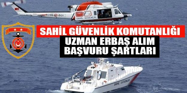 Sahil Güvenlik Komutanlığı son dakika uzman erbaş alım başvuruları