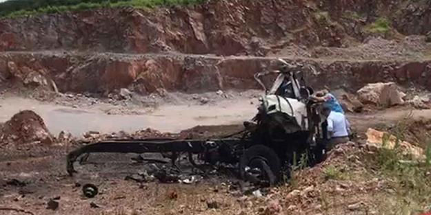 3 askerimizin şehit olduğu patlamadan sonra ortaya çıkan kamyonun görüntüsü şok etti