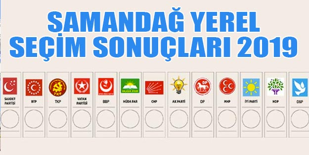 Samandağ yerel seçim 2019 sonuçları Hatay Samandağ belediye seçim sonuçları