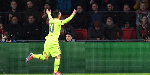 Şampiyonlar Ligi'nde haftanın oyuncusu Messi oldu