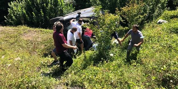 Samsun'da otomobil kazası: 1 ölü, 1 yaralı