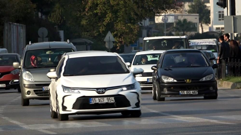 Samsun'da taşıt sayısı 1 yılda 7 bin 323 arttı