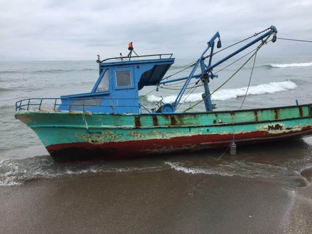 Samsun'dan çalınan tekne Giresun'da bulundu