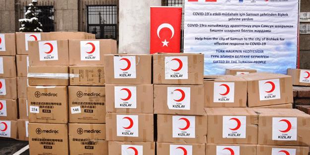 Samsun'dan gönderilen yardımlar Kırgızistan'a ulaştı