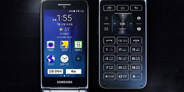Samsung'un yepyeni kapaklı android telefonu ortaya çıktı