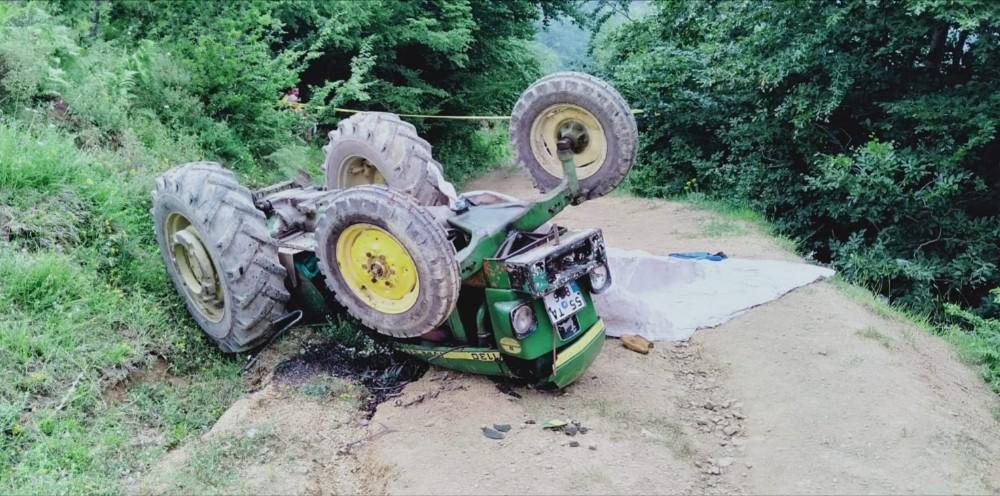 Samsun'un traktör kazası: 1 ölü, 2 yaralı