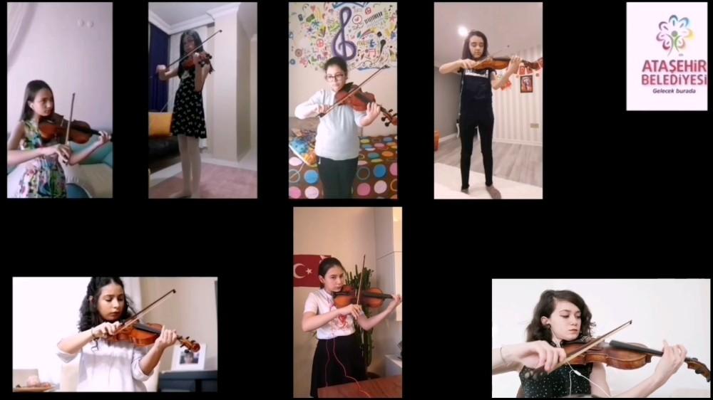 Sanat eğitimine katılan Ataşehirliler yeteneklerini online sergileyecek