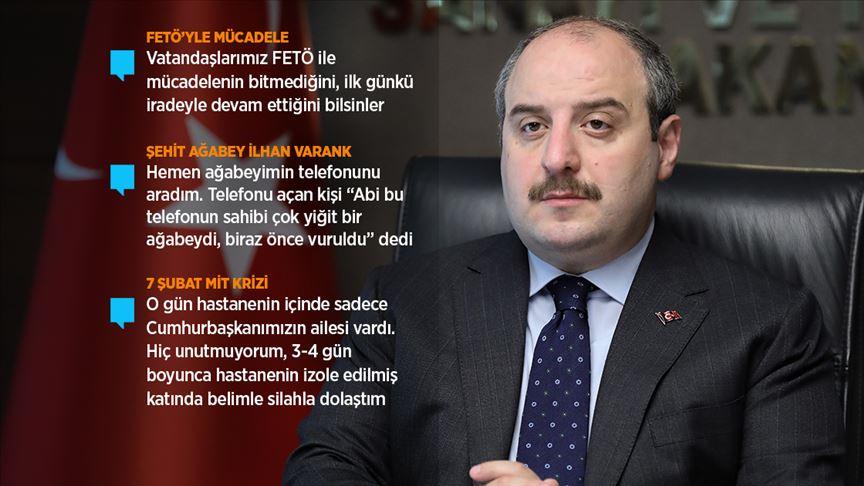 Sanayi ve Teknoloji Bakanı Varank: Böceklerin bulunması FETÖ'nün Türkiye'ye karşı açıktan operasyonlarının miladı oldu